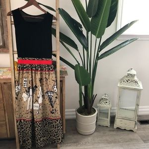 ♥️Super cute Maxi dress with mixed media